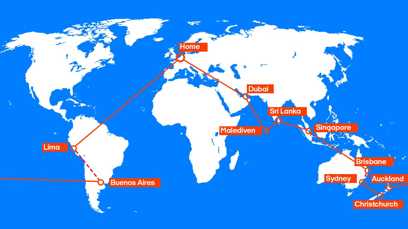 Hangmat Zuid Amerika.Wereldreis Azie Oceanie Zuid Amerika Kilroy